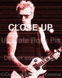 Art Print of Billy Duffy of The Cult playing his Gibson Les Paul - cultbillyred