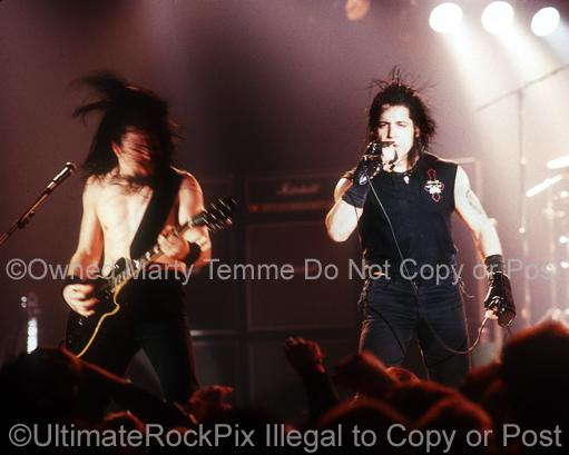 Photos of Glenn Danzig and John Christ of Danzig Performing in Concert in 1989 by Marty Temme