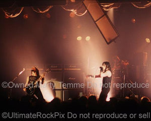 Photos of Glenn Danzig and John Christ of Danzig in Concert in 1989 by Marty Temme