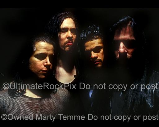 Photos of Glenn Danzig, Eerie Von, Joey Castillo and John Christ of Danzig During a Photo Session in 1995 in San Diego, California by Marty Temme