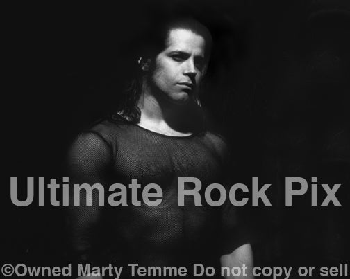 Black and white photo of Glenn Danzig during a photo shoot in 1995 by Marty Temme