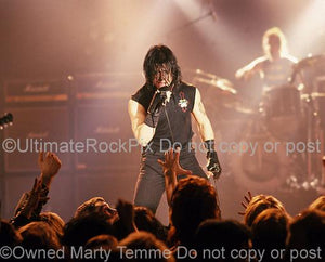 Photo of Singer Glenn Danzig of Danzig Performing in Concert in 1989 by Marty Temme