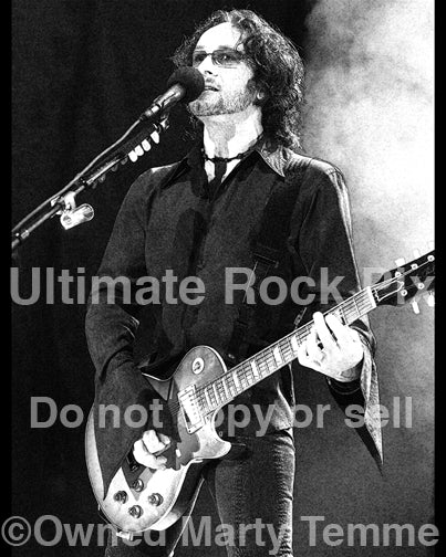 Art Print of Vivian Campbell of Def Leppard in concert by Marty Temme