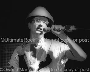 Photo of Mark Mothersbaugh of Devo in concert in 1980