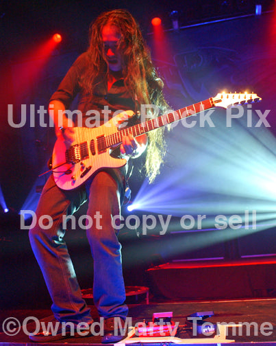 Photo of guitarist Herman Li of DragonForce in concert in 2009 by Marty Temme