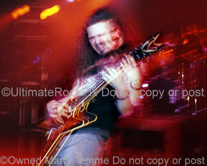 Art Print of Diamond Darrell Abbott of Pantera in concert in 1994 by Marty Temme