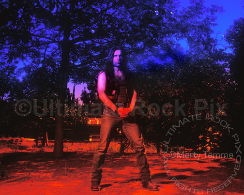 Art Print of vocalist Bruce Dickinson during a photo shoot in 1994 by Marty Temme
