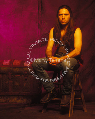 Photo of Bruce Dickinson of Iron Maiden during a photo session in 1994 - dickinson7