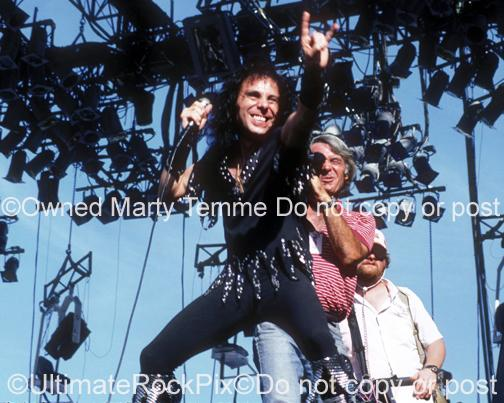 Photos of Ronnie James Dio of Dio Performing in Concert in 1986 by Marty Temme