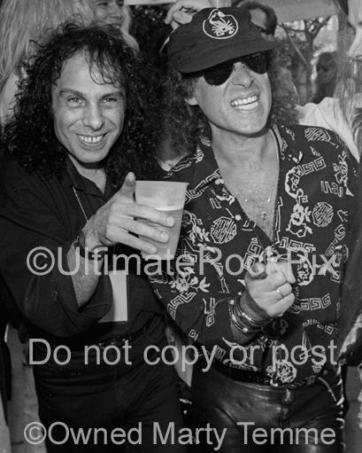 Photos of Ronnie James Dio of Dio and Klaus Meine of The Scorpions in 1991 by Marty Temme