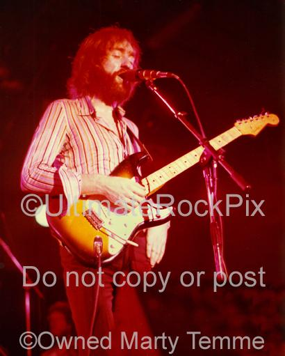 Photos of Guitar Player Dave Mason of Fleetwood Mac and Bob Dylan in 1974 by Marty Temme