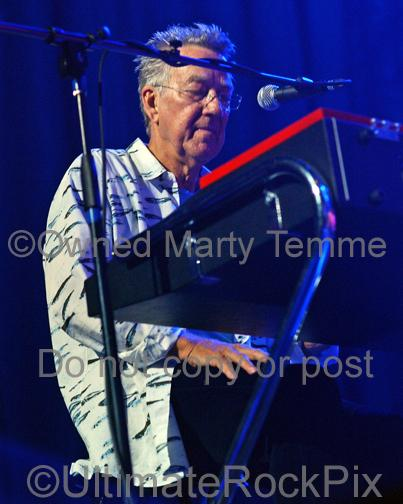 Photos of Keyboardist Ray Manzarek of The Doors Playing a Vox Continental Organ in Concert in 2009 by Marty Temme