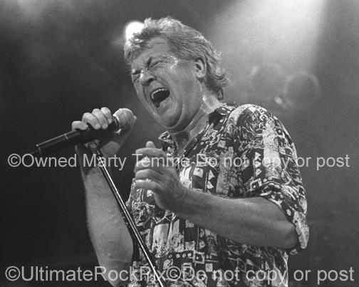 Black and White Photos of Singer Ian Gillan of Deep Purple by Marty Temme