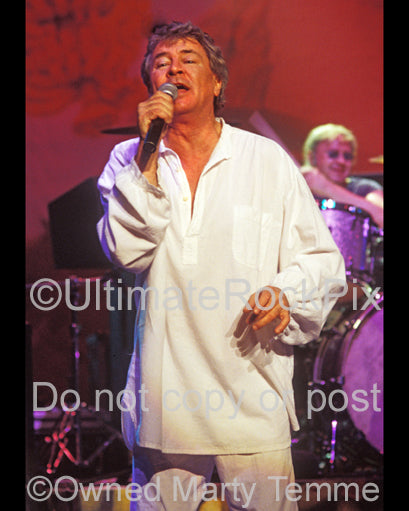 Photo of Ian Gillan of Deep Purple in concert in 2004 by Marty Temme