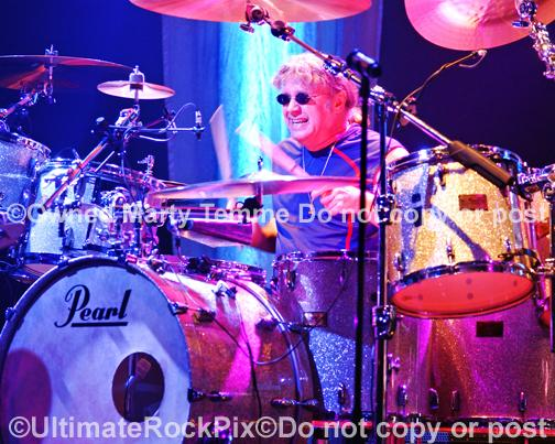 Photos of Drummer Ian Paice of Deep Purple in Concert in 2007 by Marty Temme