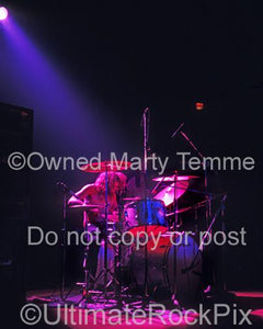 Photos of Drummer Ian Paice of Deep Purple in Concert in 1972 by Marty Temme