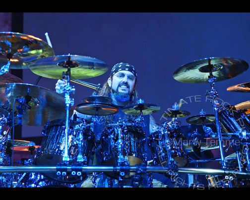 Photo of drummer Mike Portnoy of Dream Theater in concert by Marty Temme