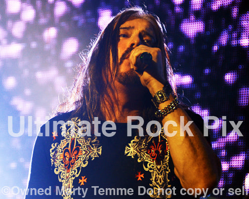 Photo of James LaBrie of Dream Theater in concert in 2014 by Marty Temme