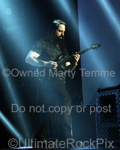 Photo of John Petrucci of Dream Theater in concert in 2014 by Marty Temme