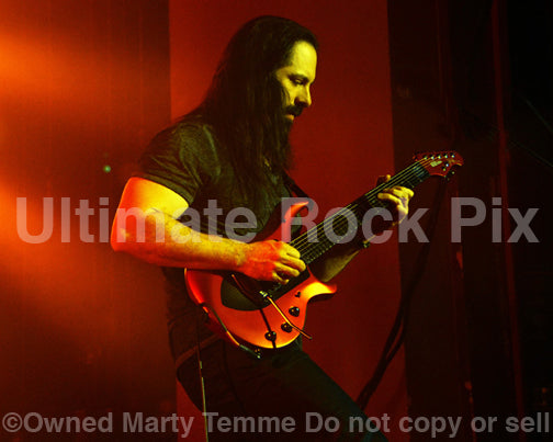 Photo of guitarist John Petrucci of Dream Theater in concert by Marty Temme