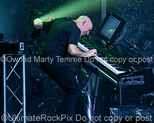 Photo of Jordan Rudess of Dream Theater in concert in 2012 by Marty Temme