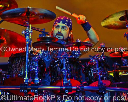 Photos of Drummer Mike Portnoy of Dream Theater in Concert by Marty Temme