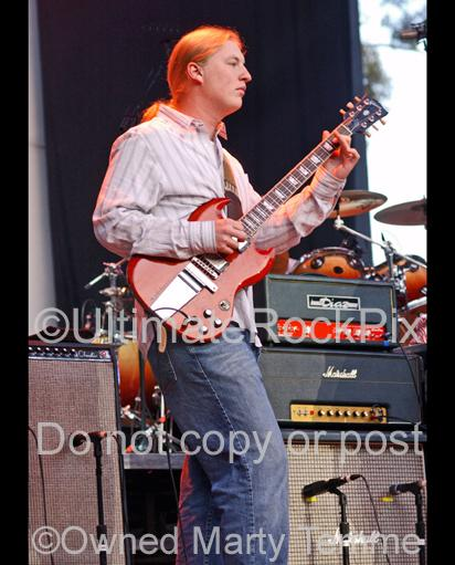 Photos of Derek Trucks of The Allman Brothers Playing Slide Guitar in Concert by Marty Temme