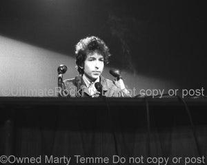 Black and White Photos of Musician Bob Dylan in 1965 by Marty Temme