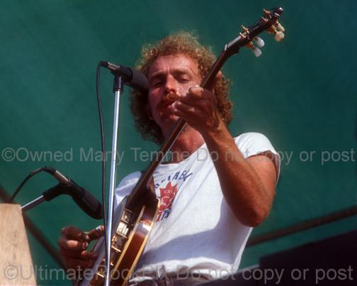 Photos of Bernie Leadon of The Eagles in Concert in 1974 by Marty Temme