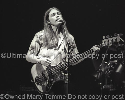Photos of Singer and Bass Player Timothy B. Schmit of The Eagles in Concert in 1980 by Marty Temme