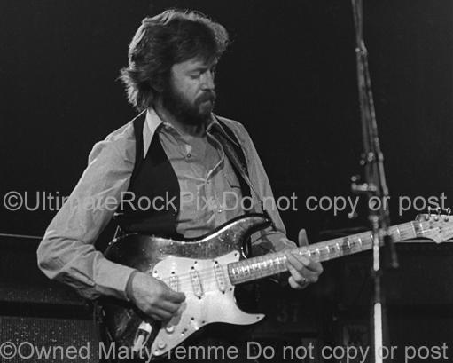 Photos of Eric Clapton Playing a Stratocaster in 1979 by Marty Temme