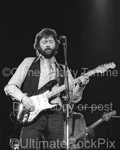 Black and White Photos of Eric Clapton in Concert in 1979 by Marty Temme