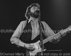 Photos of Guitarist Eric Clapton in Concert in 1979 by Marty Temme