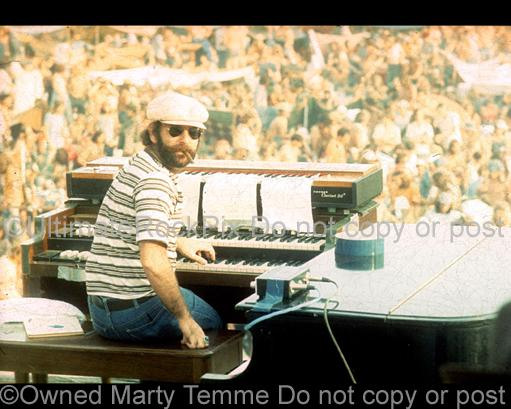Photos of Keyboard Player Barry Goldberg of Electric Flag in 1974 by Marty Temme