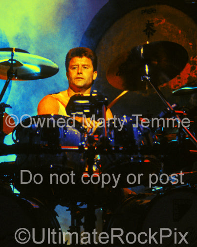 Art Print of Carl Palmer of Emerson, Lake & Palmer in concert in 1992 by Marty Temme