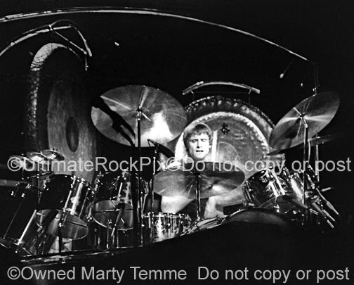 Photos of Drummer Carl Palmer of Emerson, Lake & Palmer in Concert in 1977 by Marty Temme