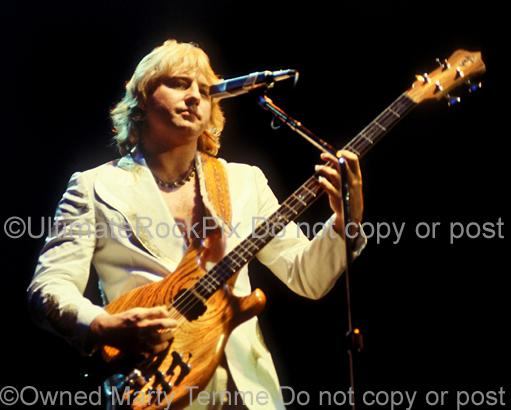 Photos of Greg Lake of Emerson, Lake and Palmer and King Crimson in Concert in 1978 by Marty Temme