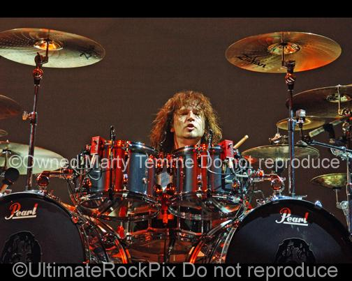 Photos of Rock Drummer Eric Singer Performing Onstage by Marty Temme