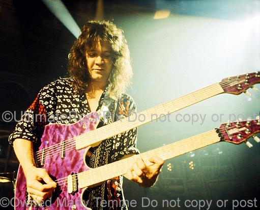 Photos of Eddie Van Halen of Van Halen in Concert in 1991 by Marty Temme