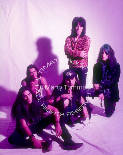 Photo of Faster Pussycat during a photo shoot in 1990 by Marty Temme