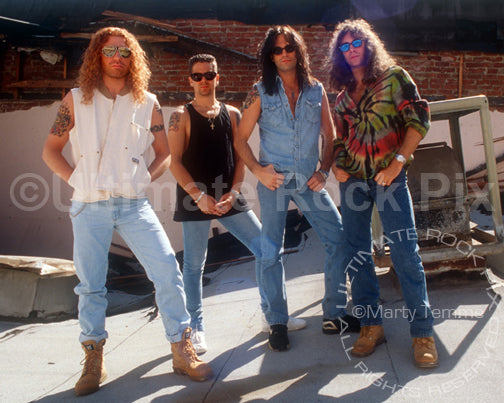 Photo of the hard rock band Firehouse during a photo shoot in 1994 by Marty Temme