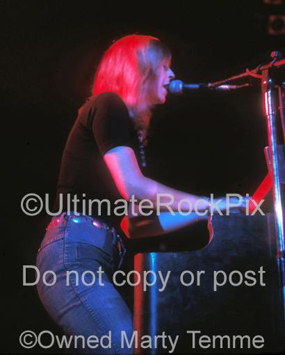 Photos of Singer and Keyboard Player Christine McVie in Concert in 1973 by Marty Temme