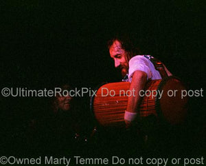 Photos of Drummer Mick Fleetwood of Fleetwood Mac in Concert in 1977 by Marty Temme