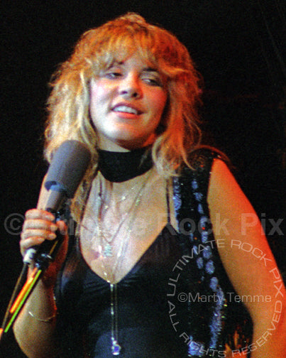 Photo of Stevie Nicks of Fleetwood Mac performing in 1977 by Marty Temme