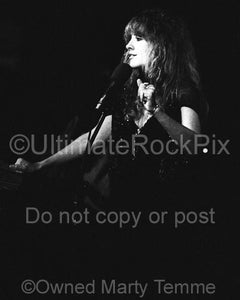 Black and White Photos of Stevie Nicks of Fleetwood Mac in Concert in 1977 by Marty Temme