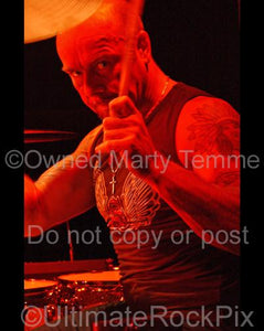 Photos of Jason Bonham Playing Drums in Concert with the Band Foreigner in 2006 by Marty Temme