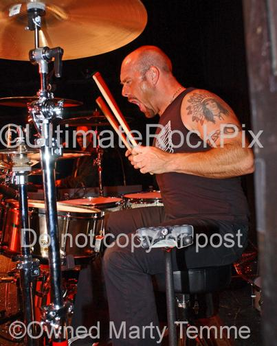 Photos of Drummer Jason Bonham in Concert with the Band Foreigner in 2006 by Marty Temme