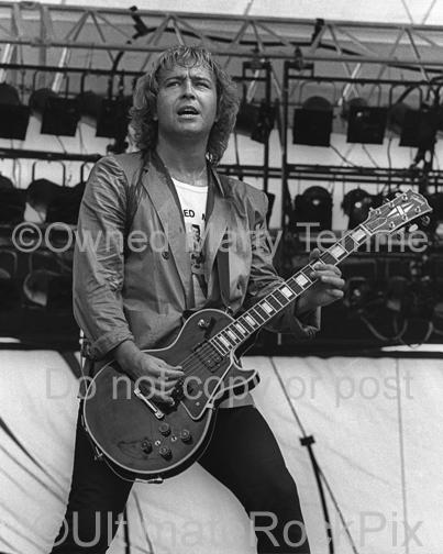 Photos of Mick Jones of Foreigner in Concert in 1980 by Marty Temme
