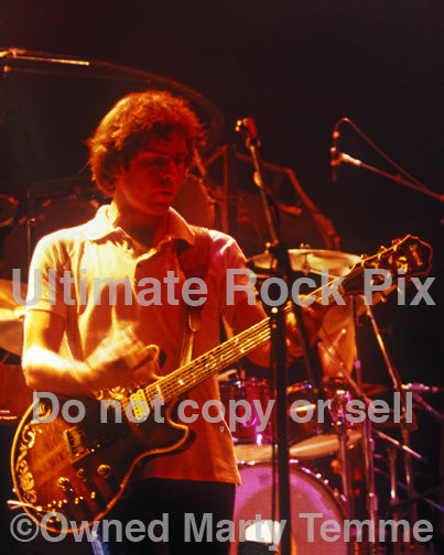Photo of Bob Weir of The Grateful Dead in concert in 1983 by Marty Temme