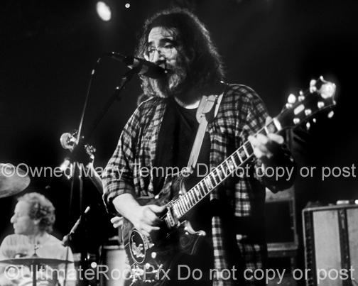 Photos of Guitarist Jerry Garcia of The Grateful Dead in Concert in the 1980's by Marty Temme